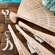 Personalized Sandalwood  Fashion Craft Favors Fan