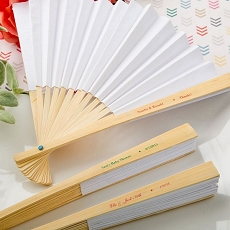 Personalized Elegant White Paper Folding Fan