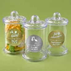 Personalized Metallic Collection Clear Acrylic Apothecary Jar - Baby