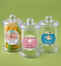 Personalized Collection Clear Acrylic Apothecary Jar with Lid - Baby
