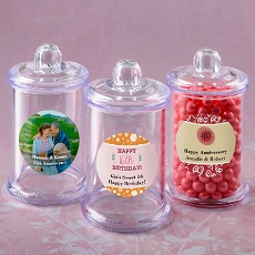 Personalized Collection Clear Acrylic Apothecary Jar - Celebrate