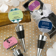 Personalized Wine Bottle Stoppers - Graduation