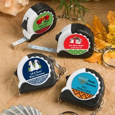 Personalized Key Chain/Measuring Tape-Holiday