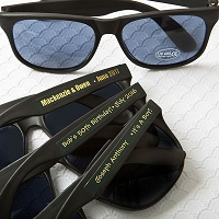 Personalized Metallics Collection Black Sunglasses