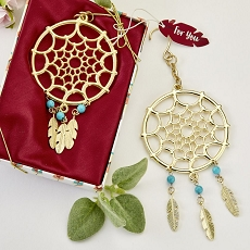 Gold Dream Catcher Themed Hanging Ornament