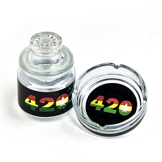 Ashtray Set With Stash Jar - 420 Design