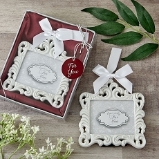 White Baroque Ornament - Picture Frame