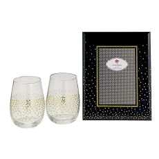 Golden Splendor Stemless Wine/Champagne Toasting Set