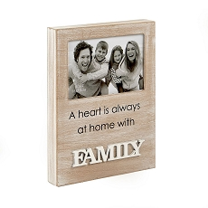 Family Wood Frame - Distressed Wood Finish