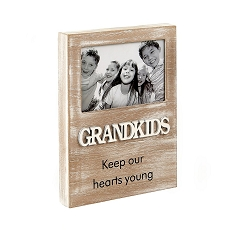 Grandkids Wood Frame - Distressed Wood Finish