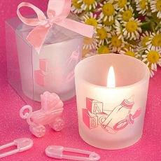 Baby Bottle Girl Themed Candle Favors