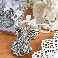 Silver Angel Ornament w/Antique Finish