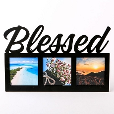 Blessed Metal Frame - 3 Openings - Black