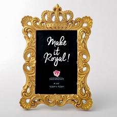 Magnificent Gold Crown 4X6 Frame