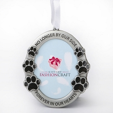 Pet Memorial Ornament - No Longer By Our Side, Forever In Our Hearts