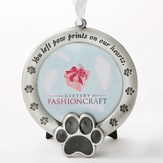 Pet Memorial Ornament - You Left Paw Prints On Our Hearts
