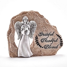 Angel on Rock- Grateful -Thankful -Blessed