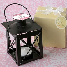 Personalized Love Lights The Way Metal Luminous Lanterns (Black)