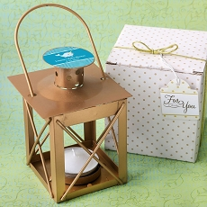 Personalized Love Lights The Way Luminous Lantern Matte Gold Finish