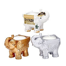 Goodluck - Set Of 3 Elephant Candles