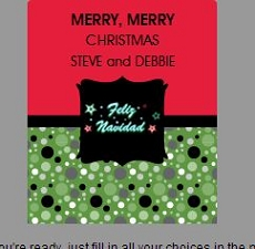 DYO labels stickers rectangular-holiday