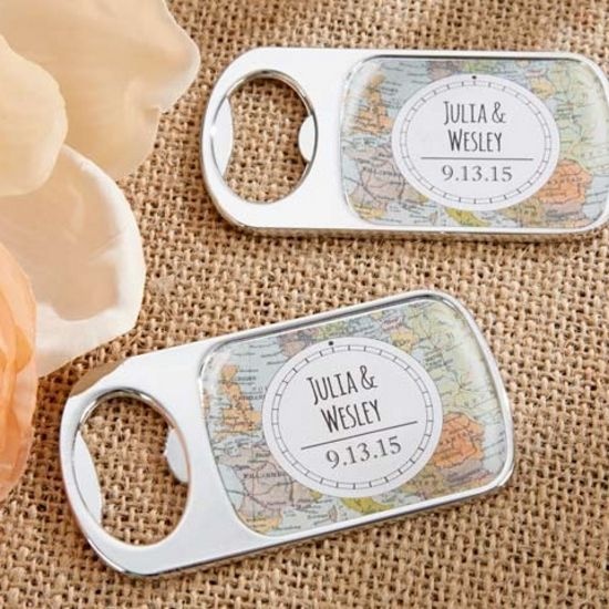 Personalized Travel and Adventure Silver Bottle Opener-Kate Aspen