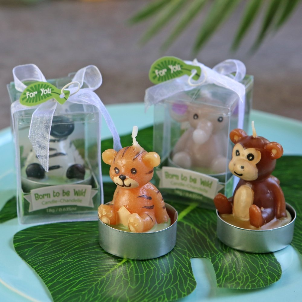 Born to be Wild Animal Candles (4, Assorted)-Kate Aspen
