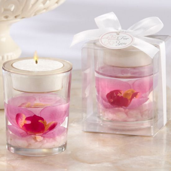 Elegant Orchid Tealight Holder-Kate Aspen