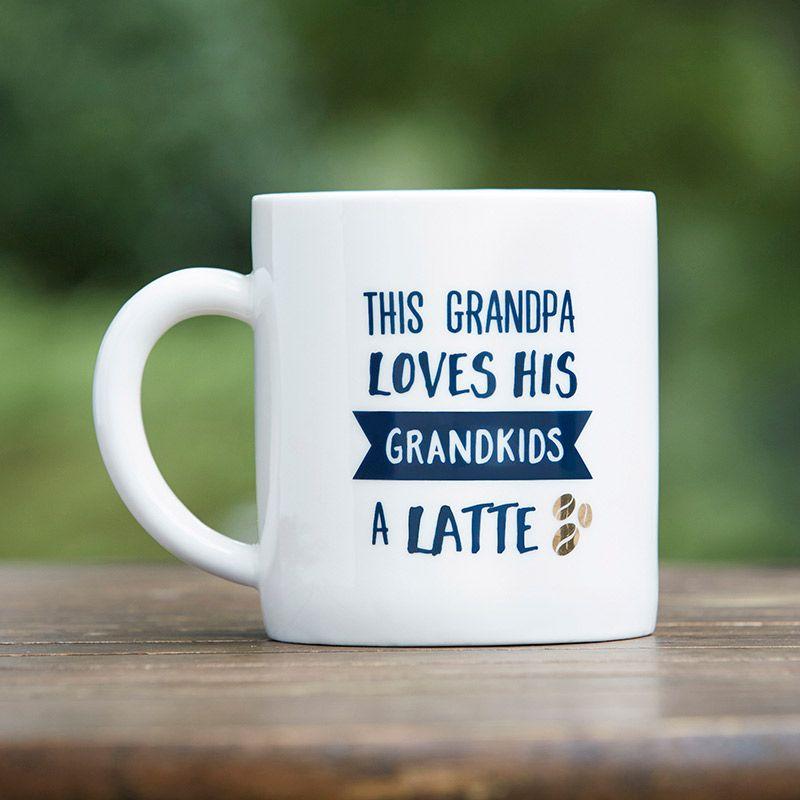 Grandpa Latte 16 Oz White Coffee Mug