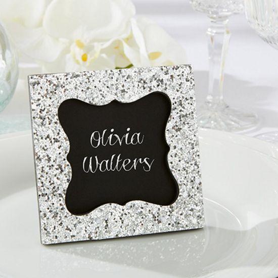 Sparkle & Shine Silver Glitter Frame|kateaspen|