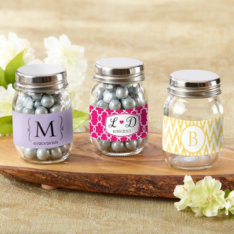 Personalized Mason Jars(SET of 12)-Kate Aspen