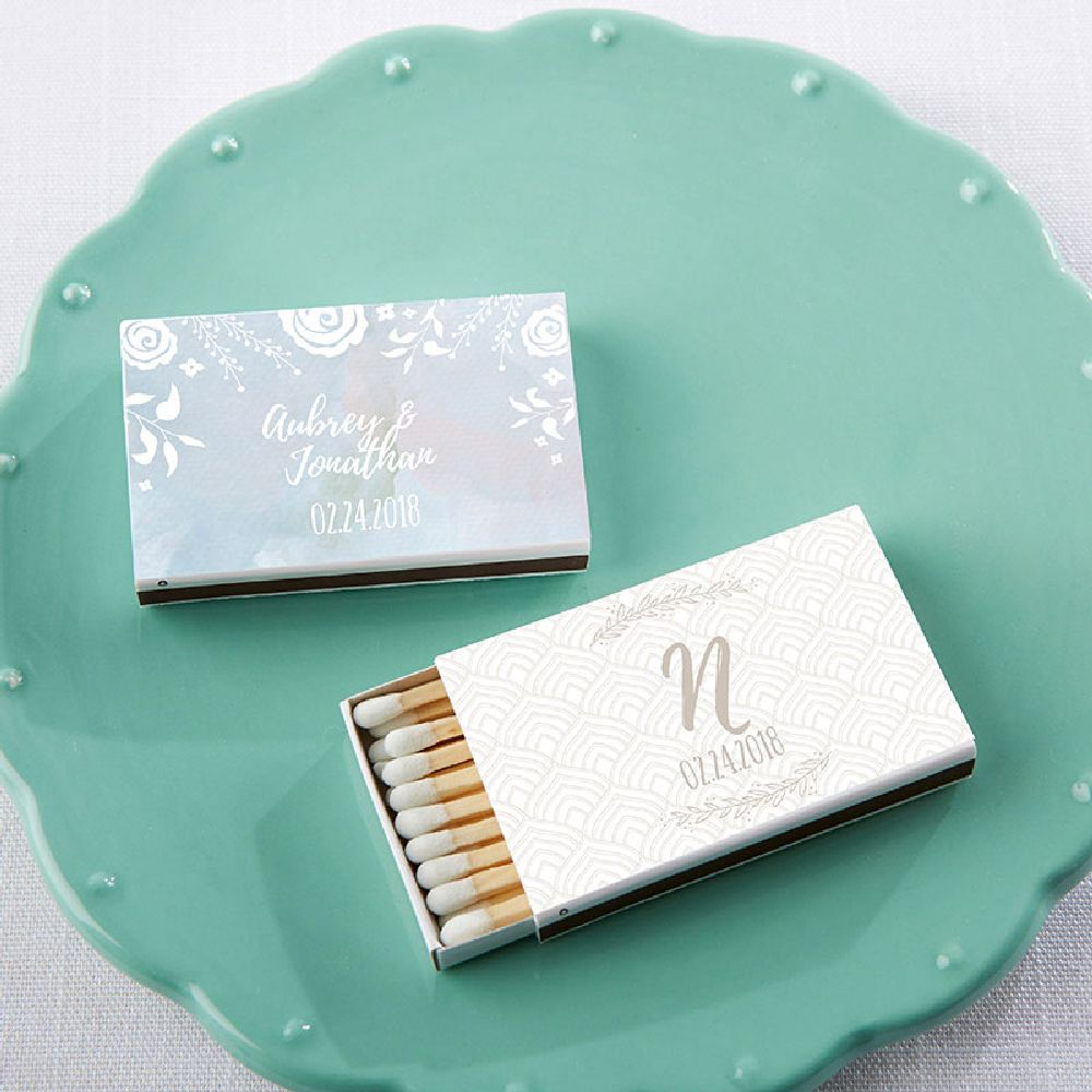 Personalized White Matchboxes - Ethereal (Set of 50)