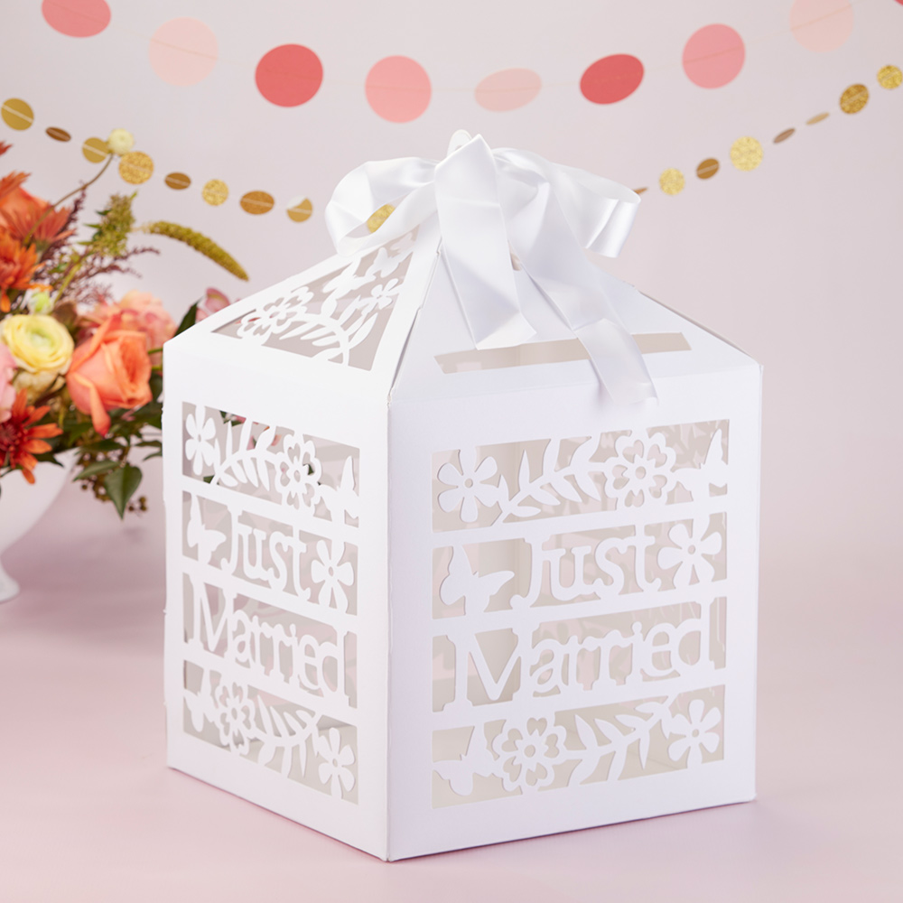 Just Married Birdcage Card Box