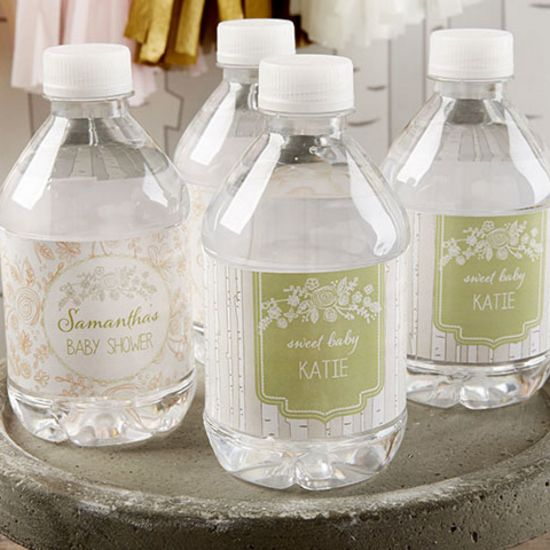 Personalized Water Bottle Labels Rustic Baby Shower Kateaspen