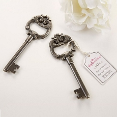 Key to My Heart Antique Silver Bottle Opener