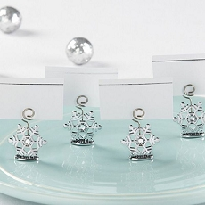 Sparkling Snowflake Place Card Holder (Set of 6)