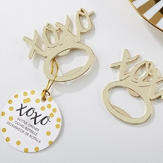 XOXO Gold Bottle Opener-Kate Aspen