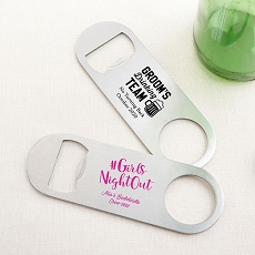 Personalized Silver Oblong Opener - Bachelor & Bachelorette-Kate Aspen