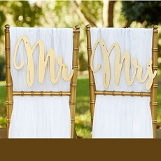 Gold Promises Classic Mr. & Mrs. Chair Backers-Kate Aspen