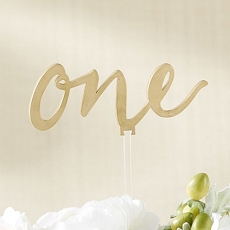 Gold Calligraphy Table Numbers (1-6)