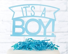It's a Boy Acrylic Cake Topper-Kate Aspen