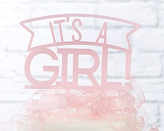It's a Girl Acrylic Cake Topper-Kate Aspen