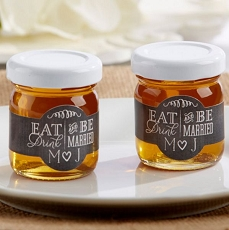 Personalized Clover Honey - Eat, Drink & Be Married (Set of 12)-Kate Aspen