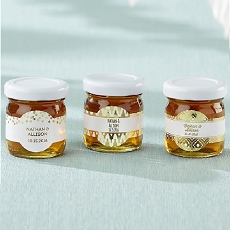 Personalized Honey Jar - Gold Foil (Set of 12)-Kate Aspen