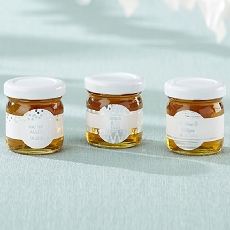 Personalized Honey Jar - Silver Foil (Set of 12)-Kate Aspen