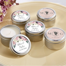Personalized Travel Candle - English Garden -Kate Aspen