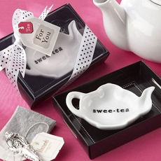 Ceramic Tea-Bag Caddy In Serving-Tray Gift Box-Kate Aspen