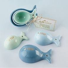 Whale Shaped Ceramic Measuring Spoons-Kate Aspen