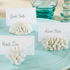 Seven Seas Coral Place Card/Photo Holder (6)-Kate Aspen