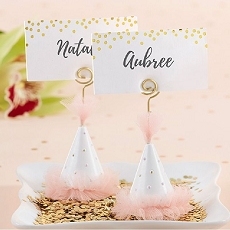 Pink Party Hat Place Card Holder (Set of 6)-Kate Aspen